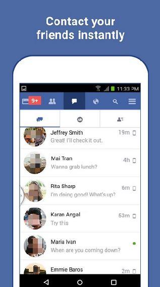 الأصدقاء علي فيس بوك لايت