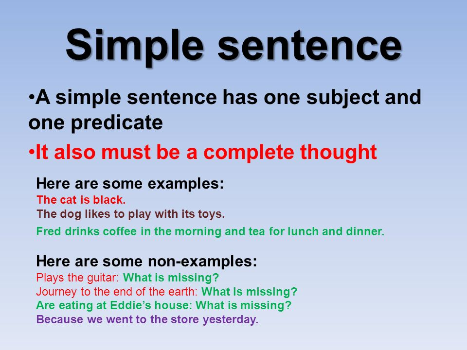What is Simple Sentence? - English Grammar A To Z