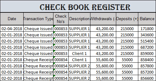 Check Register Template Excel 2007,Checkbook Register Worksheet