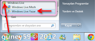 1.Windows Live Writer (Yazar)
