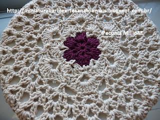 DIY Decoração - Capa Para Banquinho Redondo em Croche Com Barbante - Gráficos e Sugestões