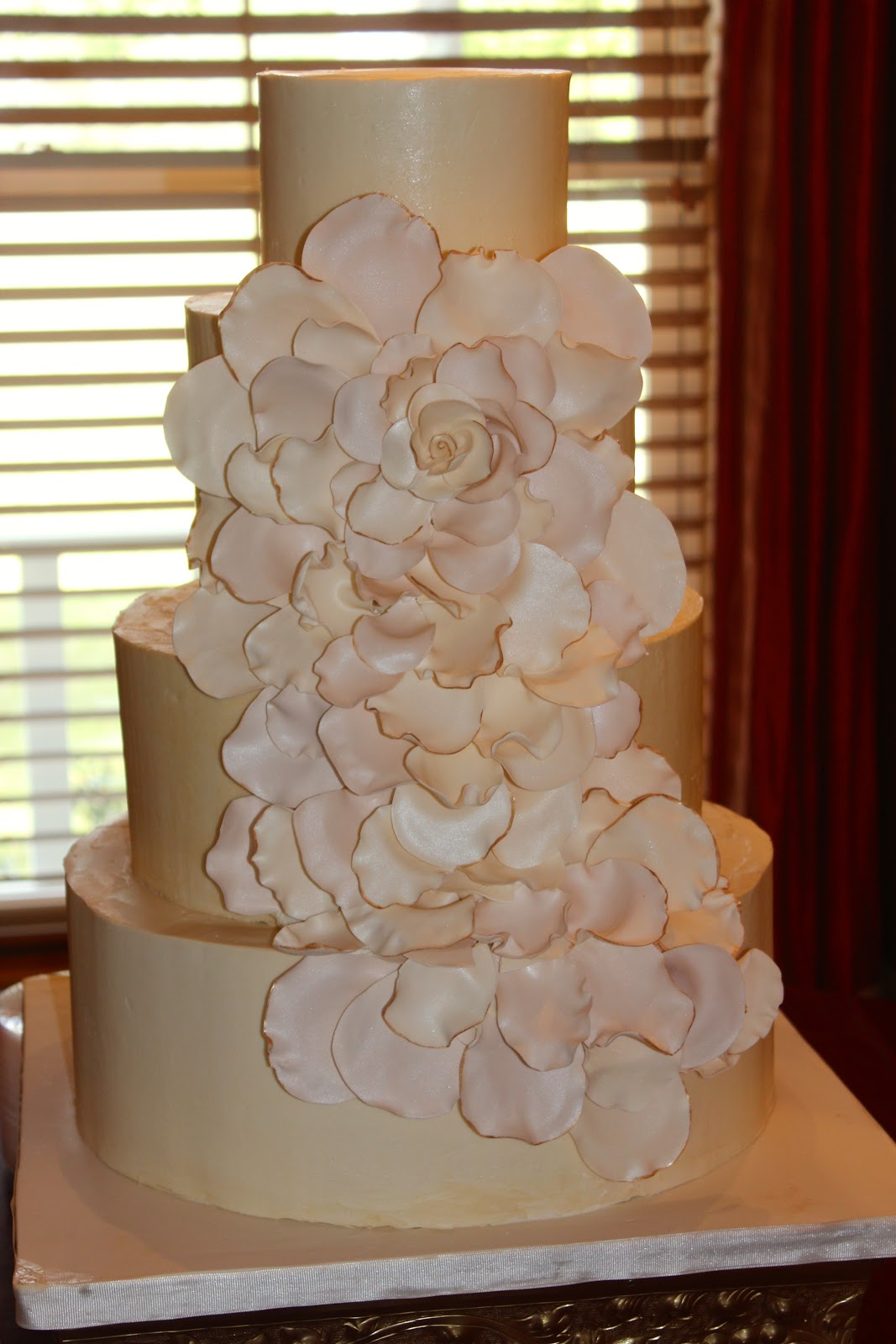 wedding cake with rose petals sweet stirrings petal wedding cake 26958