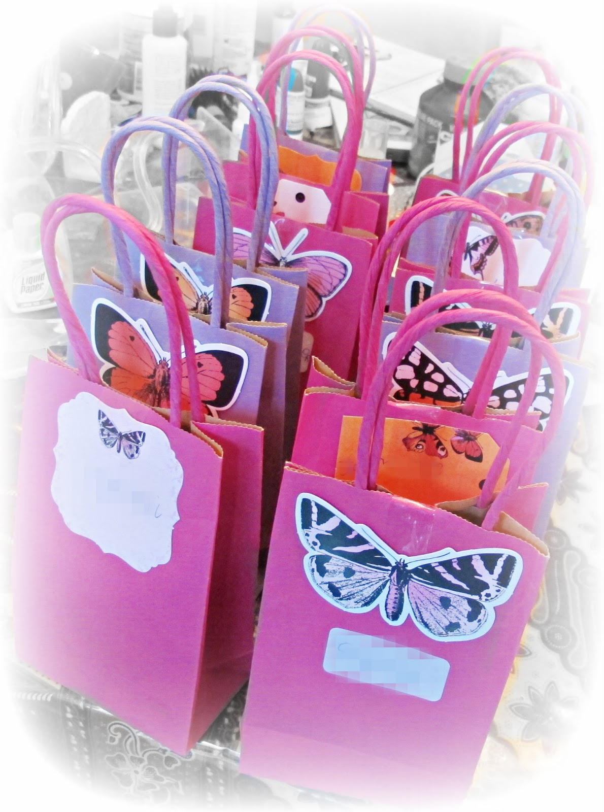 party favour bags butterflies kaisercraft