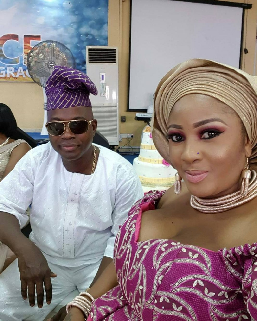 Actress Tope Osoba finally shows off her man