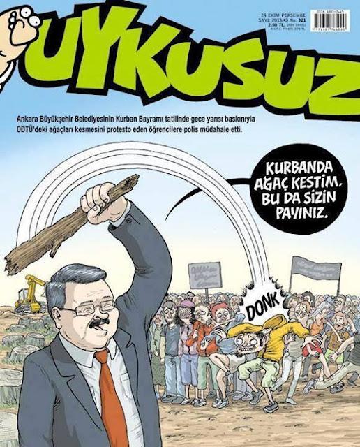 Uykusuz Dergisi - 24 Ekim 2013 Kapak Karikatürü
