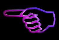 Seta mão lilás