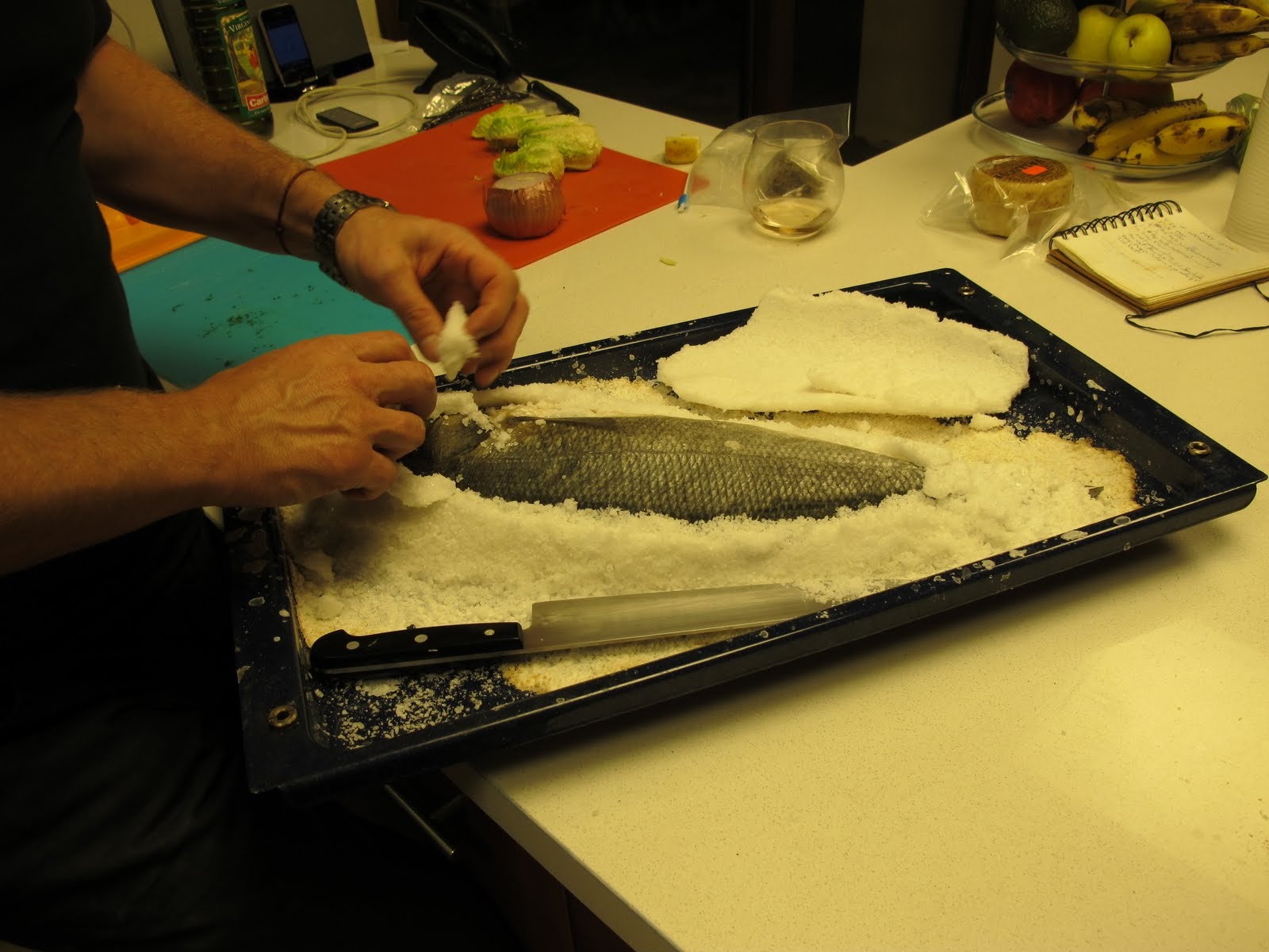 Recipes to cure cancer: Salt Baked Whole Sea Bass with