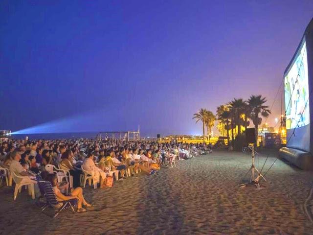 Misericorida Beach. Open Air Cinema Malaga
