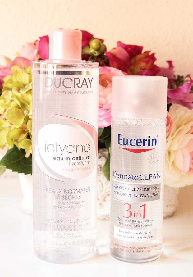 Agua micelar: Ducray y Eucerin