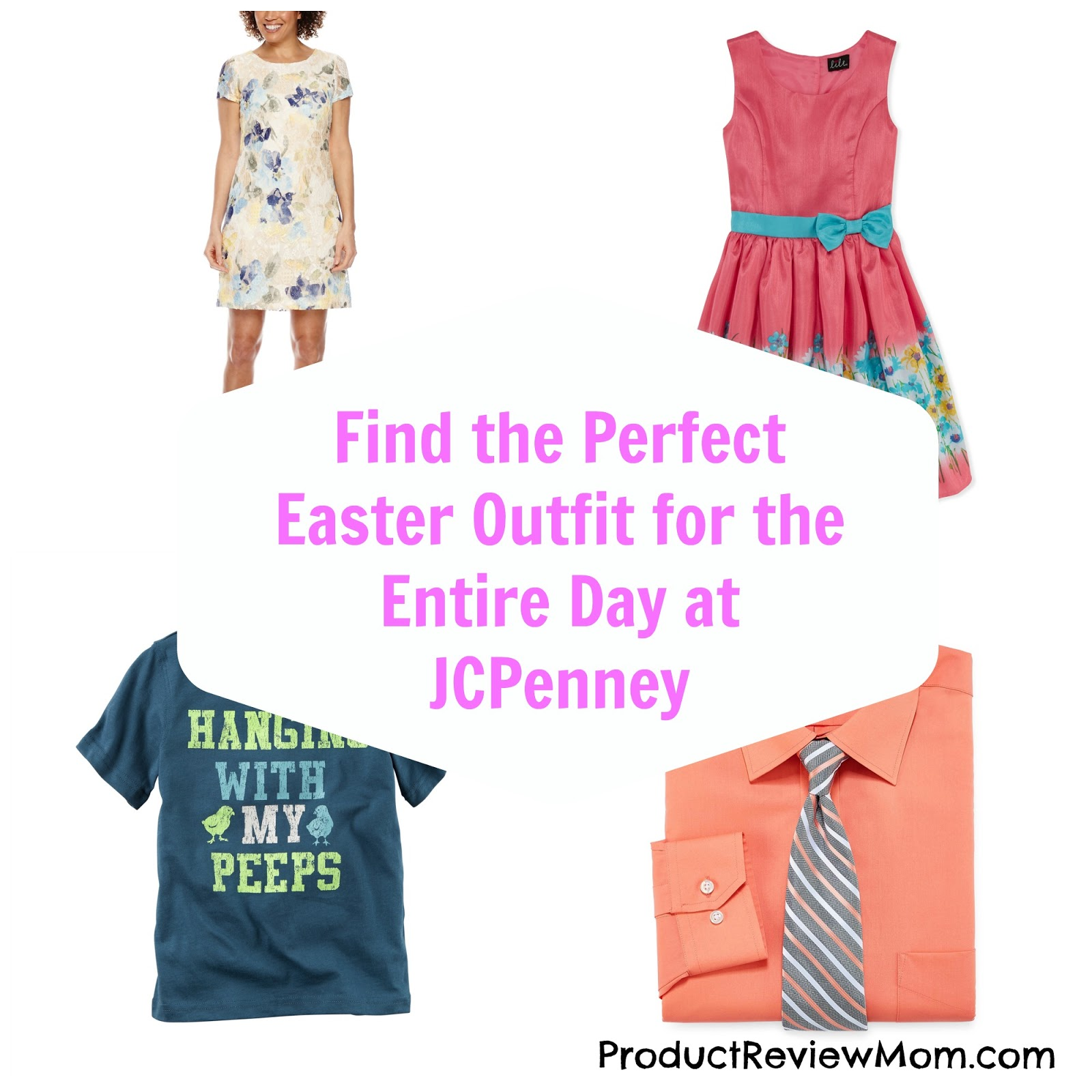 Find the Perfect Easter Outfit for the Entire Day at JCPenney  via  www.productreviewmom.com