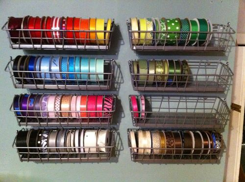 Creative Ribbon Storage Ideas featured by top US sewing blog, Flamingo Toes.