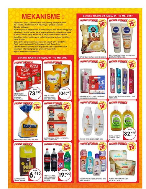 Katalog Super Indo Jabodetabek dan Palembang Periode 4-10 Mei 2017