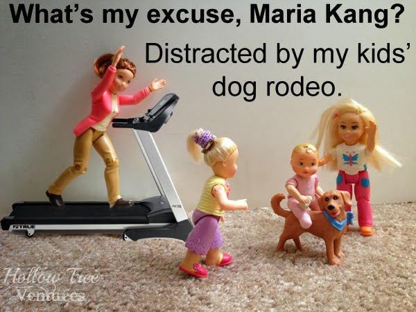 As the Dollhouse Turns responds to Maria Kang with a dog rodeo by Robyn Welling @RobynHTV