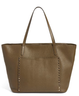 Rebecca Minkoff Unlined Front Pocket Tote in Moss