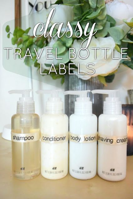 EAT+SLEEP+MAKE: DIY Classy Travel Bottle Labels