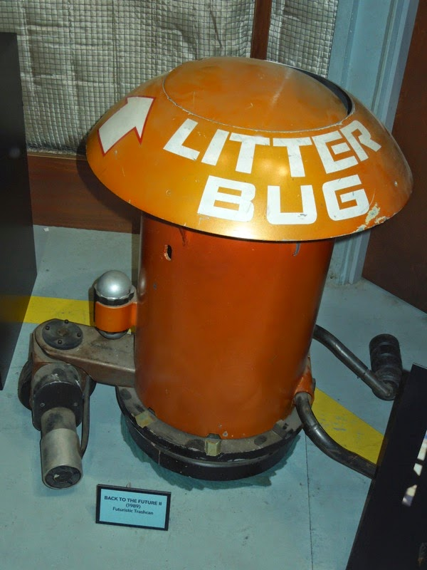 Back to the Future II Litter bug trashcan movie prop