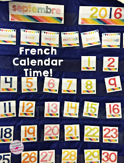 It's Calendar Time in the Second Language Classroom! French (FSL) bulletin board sets- perfect for practicing and reinforcing oral language in the upper elementary classroom