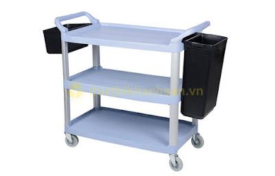 Xe đẩy thu dọn bàn ăn đa năng XB1506
