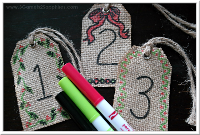 Fun to make easy DIY advent calendar craft  |  3 Garnets & 2 Sapphires