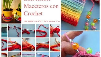 Fundas para Maceteros de Crochet