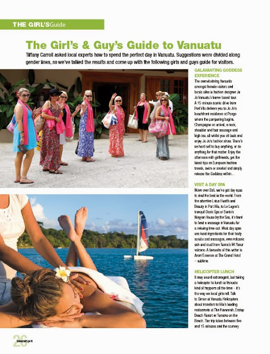 "The ""Perfect day in Vanuatu"" poll by Island Spirit Magazine"