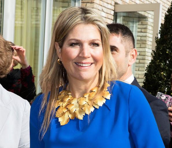 Queen Maxima of The Netherlands visited the MFC Het Kristal a new mulitfunctional center in Apeldoorn
