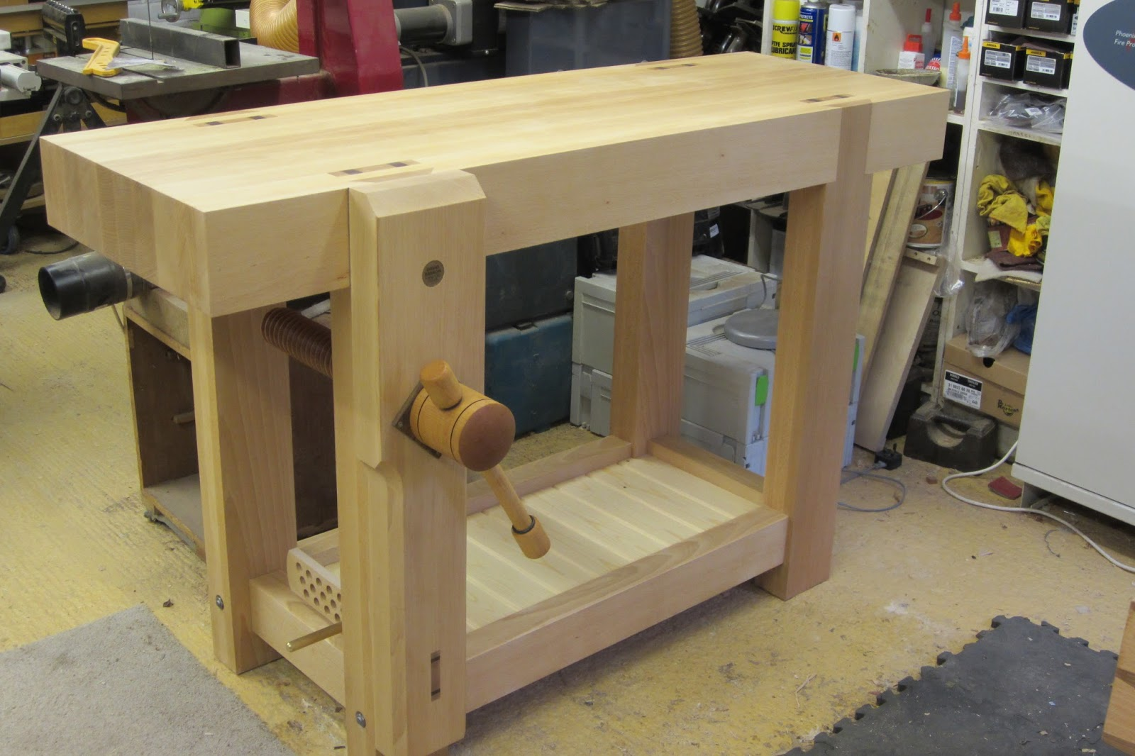 David Barron Furniture Roubo Work Bench Finished