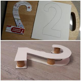 Объемная цифра из бумаги
