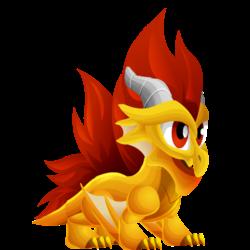 Dragon Crête apparence de l'enfant