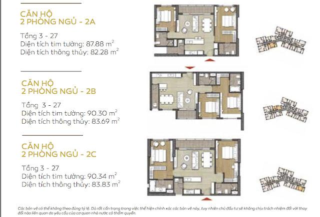 căn hộ 2 phòng ngủ tháp Bora Bora dự án căn hộ Đảo Kim Cương