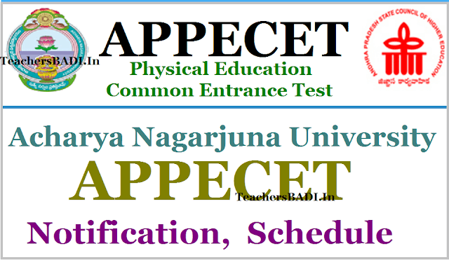 APPECET Notification, Schedule,Physical Educatiion Common Entrance Test
