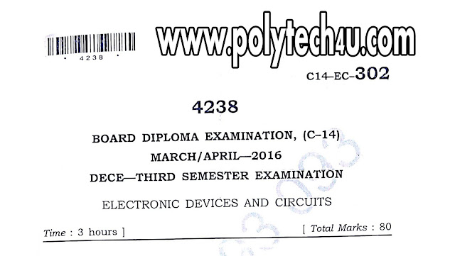 ELECTRONIC DEVICES AND CIRCUITS QPS FREE DOWNLOAD C-14 ECE