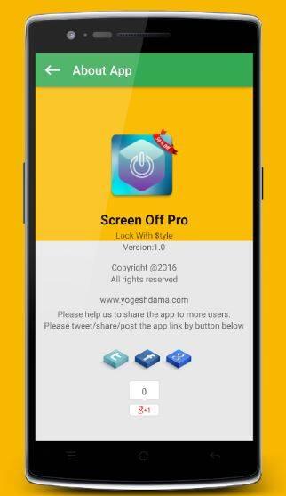 spegnere e bloccare display android senza premere tasti