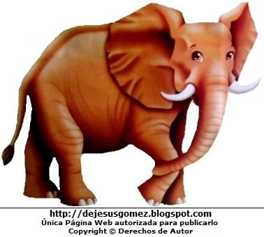 Dibujo de elefante feliz para niños por Jesus Gómez