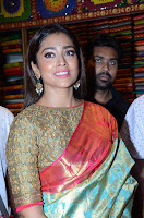 Shriya Saran Looks Stunning in Silk Saree at VRK Silk Showroom Launch Secundrabad ~  Exclusive 001.JPG