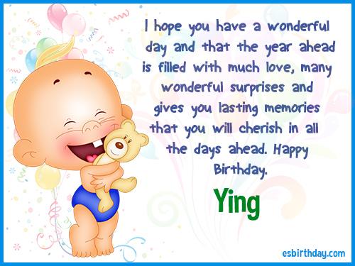 Ying Happy birthday