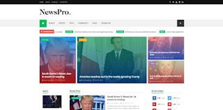 NewsPro Blogger Template 2018