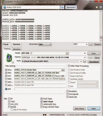 Sebelum anda melaksanakan proses flash sebaiknya anda terlebih dahulu membackup semua data y Cara Flash Nokia 501 RM-902 With MobileEx