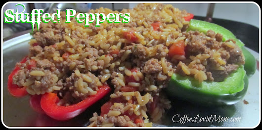 Coffee Lovin Mom: I'm Cooking - Stuffed Peppers for Foodie Friday