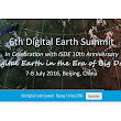Photogrammetry News | All about Photogrammetric Mapping, Software, News: 6th Digital Earth Summit by ISDE will be held on 7-8 July 2016 at the Beijing International Convention Center, China