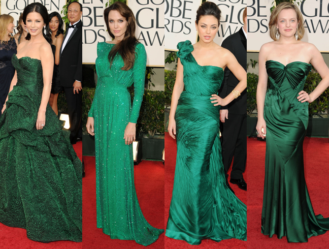 Emerald Green Trend In Red Carpet