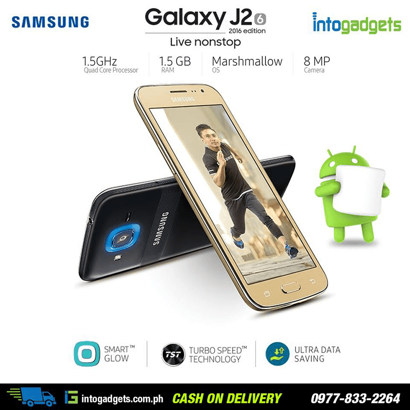 Samsung Galaxy J2 2016 Now Available In PH Thru Intogadgets, Priced At 6990 Pesos!