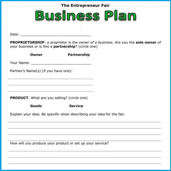 Setup Business Plan
