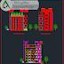 مخطط مركز تسوق متعدد الطوابق اوتوكاد dwg