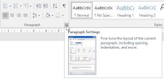 paragraph settings