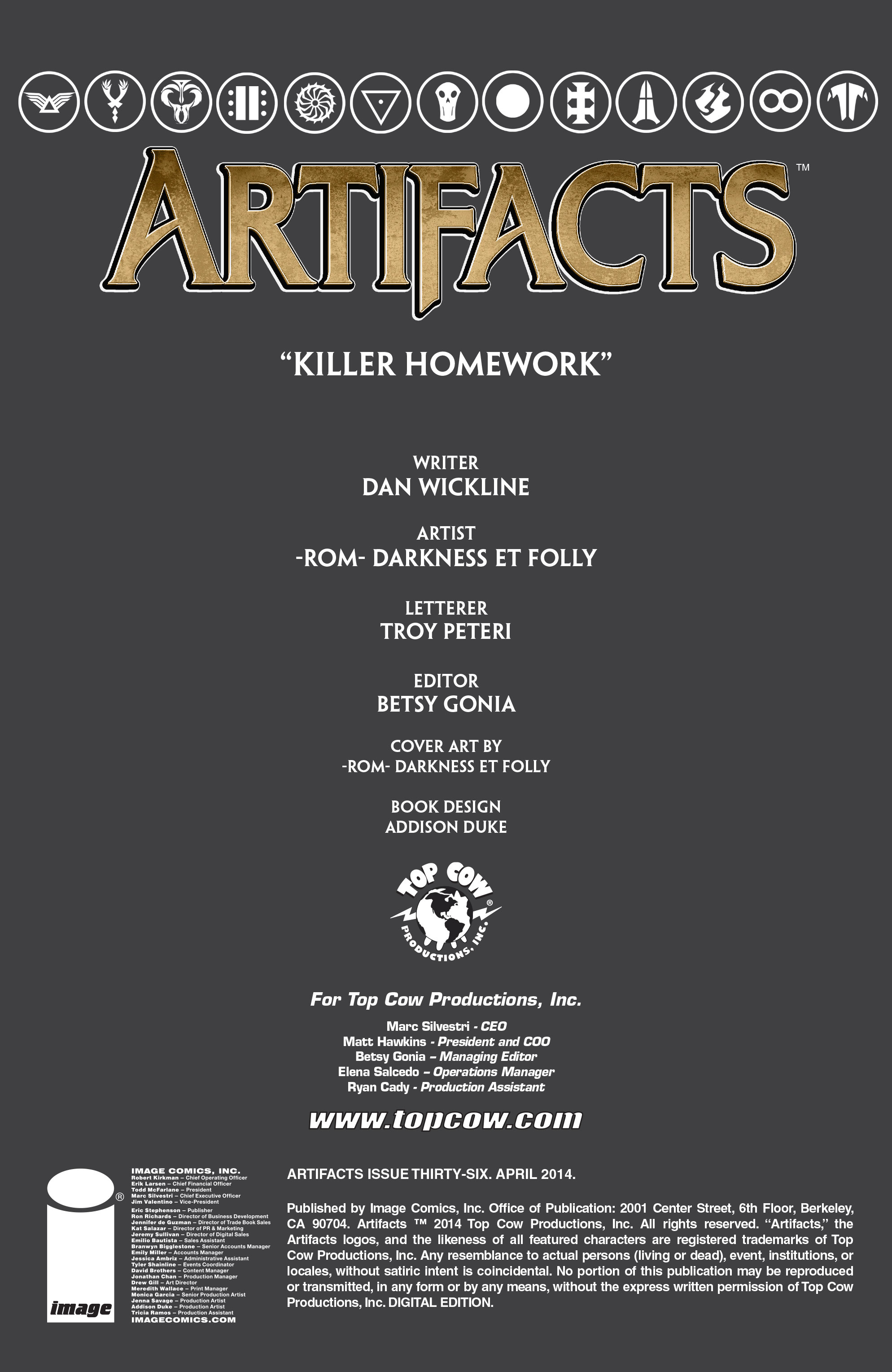 Read online Artifacts comic -  Issue #36 - 2