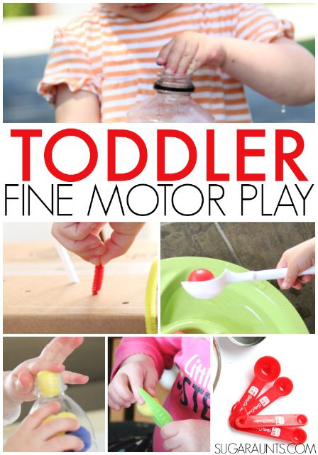 Toddler fine motor play ideas