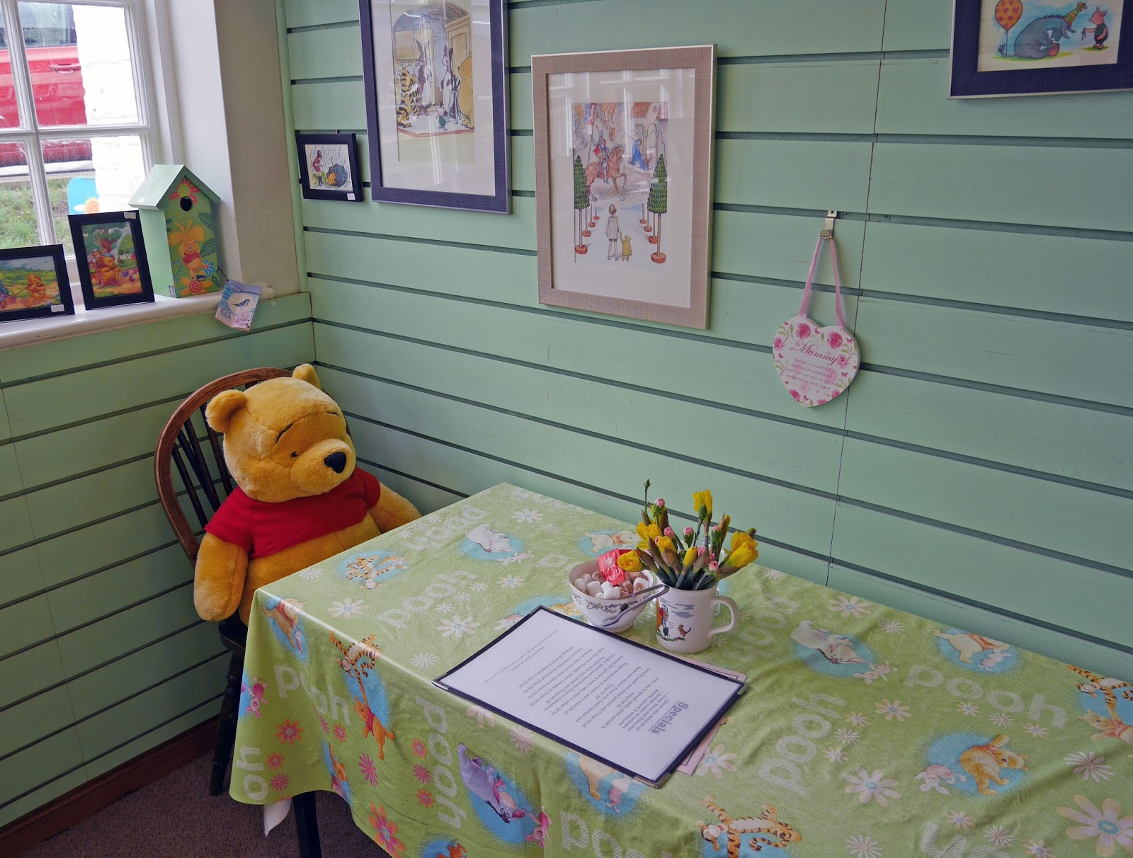 Winnie the Pooh merchandise at the Pooh Corner gift shop in Hartfield, East Sussex