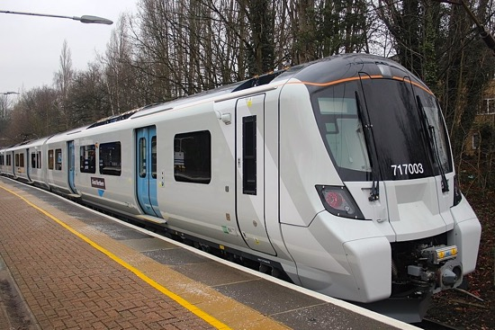 Image: Exterior of a Class 717 at Gordon Hill on the Hertford North line  Image by Superalbs, released under Creative Commons BY-SA 4.0