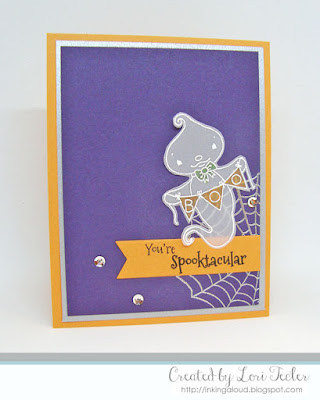 You're Spooktacular card-designed by Lori Tecler/Inking Aloud-stamps and dies from SugarPea Designs